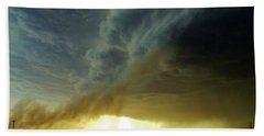 Hand Towel featuring the photograph Smoke And The Supercell by Ed Sweeney
