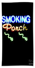 Smoking Porch In High Contrast Hand Towel