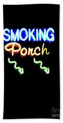 Smoking Porch In High Contrast Bath Towel