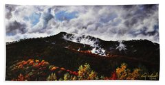 Hand Towel featuring the painting Smoky Mountain Angel Hair by Craig T Burgwardt