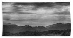 Smoky Mountains In Bw Bath Towel