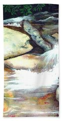 Smoky Mountains Waterfall Hand Towel