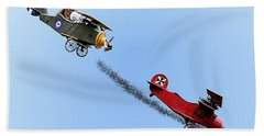 Snoopy And The Red Baron Bath Towel