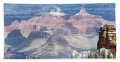 Snow At The Grand Canyon Bath Towel