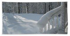 Snow Bound Cottage Hand Towel