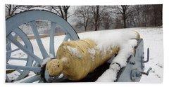 Snow Cannon Bath Towel by Michael Porchik