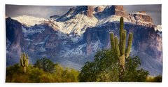 Snow Covered Superstitions  Bath Towel