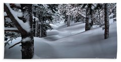 Snow Covered Trail Bath Towel