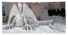 Snow Dragon 3 Hand Towel by Terry Reynoldson