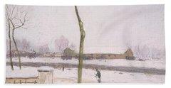 Snow Effect Effet De Neige Pastel On Paper C. 1880-1885 Bath Towel