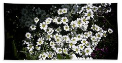 Bath Towel featuring the photograph Snow In Summer by Joann Copeland-Paul