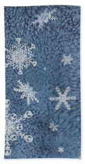 Bath Towel featuring the painting Snow Jewels by Margaret Bobb