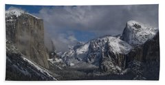 Snow Kissed Valley Hand Towel by Bill Gallagher