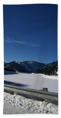 Bath Towel featuring the photograph Snow Lake by Jewel Hengen