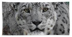 Snow Leopard 5 Hand Towel