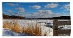 Hand Towel featuring the photograph Snow Marsh by Dianne Cowen