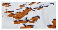 Snow On Dunes Bath Towel