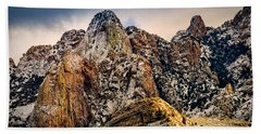 Hand Towel featuring the photograph Snow On Peaks 45 by Mark Myhaver