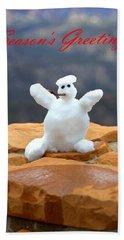 Snowball Snowman Hand Towel