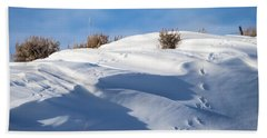 Snowdrifts Hand Towel by Nadja Rider