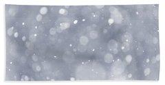 Snowfall Background Bath Towel