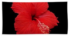 Hand Towel featuring the photograph Snowflake Hibiscus by Judy Whitton