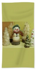 Snowman And Trees Holiday Hand Towel