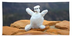 Snowman At Bryce - Square Hand Towel
