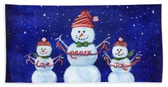 Snowmen Bath Towel