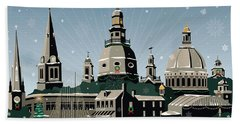 Snowy Annapolis Holiday Hand Towel