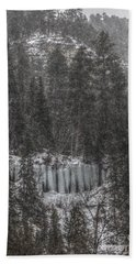 The Snowy Cliffs Of Spearfish Canyon South Dakota Hand Towel