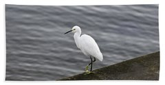 Snowy Egret Bath Towel