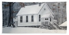 Snowy Gates Chapel  -little White Church - Ellijay Bath Towel