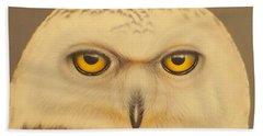 Snowy Owl Bath Towel by Darren Robinson