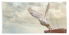 Snowy Owl Hand Towel