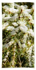 Snowy Pines Hand Towel