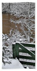 Snowy River Gate Bath Towel