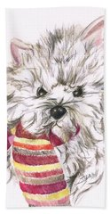 Snowy  Hand Towel by Teresa White