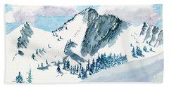 Snowy Wasatch Peak Hand Towel