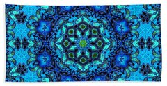So Blue - 33 - Mandala Bath Towel by Aimelle
