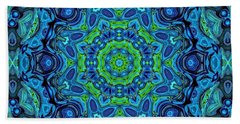 So Blue - 43 - Mandala Bath Towel by Aimelle