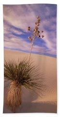 Soaptree Yucca  On Dune White Sands Bath Towel