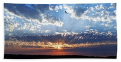 Soaring Sunset Bath Towel