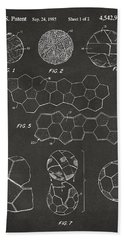 Bath Towel featuring the digital art Soccer Ball Construction Artwork - Gray by Nikki Marie Smith