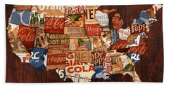 Soda Pop America Hand Towel