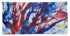 Soft Coral Splatter Hand Towel