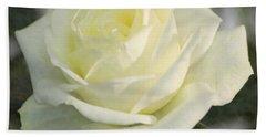 Soft Cream Rose Bath Towel