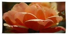 Bath Towel featuring the photograph Soft Orange Flower by Matt Harang