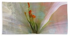 Hand Towel featuring the photograph Soft Painted Lily by Judy Palkimas
