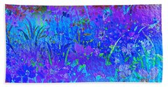 Hand Towel featuring the photograph Soft Pastel Floral Abstract by Judy Palkimas